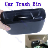 Mini Auto Car Trash Rubbish Can Garbage Dust Case Holder Box Bin Black