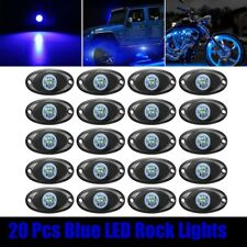 20x Blue LED Rock Lights For Jeep Off Road Truck Under Body Wheel Trail Rig Lamp