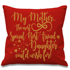 MY MOTHER AND MY DAUGHTER GOLD CUSHION COVER SPECIAL MOTHERS DAY MUM SON KID BOY
