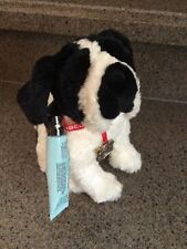 "RARE SAMPLE 7"" Bath And Body Works Plush DOG Cream w/ Leash & Lip Shine"