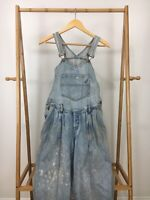 VTG 90s Guess Women's Georges Marciano Denim Bib Overalls Distressed Size 3 USA