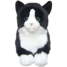 """Toy Black and White Cat soft and Cuddly 12"""" toy cat"""