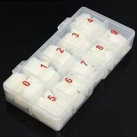 Hot Box 500Pcs Clear White Natural French False Acrylic Nail Art Tips UV Gel DIY