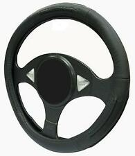 BLACK LEATHER Steering Wheel Cover 100% Leather fits AIXAM