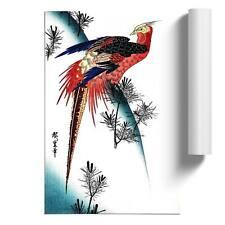Pheasant & Small Pine Wall Art Poster Print Asian Bird Utagawa Hiroshige