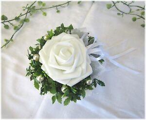 Tischgesteck weiß, Tischdeko Tischdekoration Hochzeit, Taufe, Kommunion,