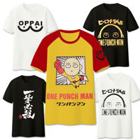 Anime One Punch Man Saitama Cosplay T-Shirt O Neck Cotton Basic Tee Shirts Tops