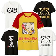 Anime One Punch Man Saitama Cosplay T-Shirt O Neck Cotton Basic Tee Shirts Tops
