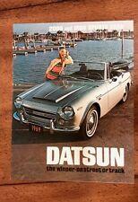 Datsun Roadster Sports 1600 2000 Brochure Folder Excellent Original 1969 NOS