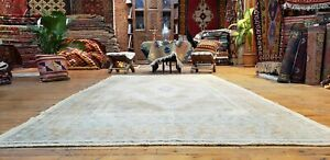 "Beautiful Antique 1940's Muted Natural Dye,Wool Pile Oushak Area Rug 4'9""×8'9"""