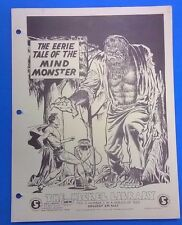 NICKEL LIBRARY Doll Man vintage 1969 promotional one-page binder fanzine (#1)