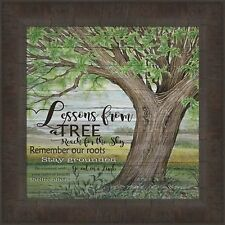 LESSONS FROM A TREE by Cindy Jacobs 15x15 Sign Inspirational FRAMED PICTURE HCD