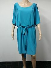 NEW - Jessica Simpson - Size 1X - Short Split Shoulder Dress - Algiers Blue $98