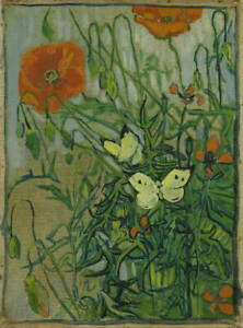 Vincent Van Gogh Butterflies And Poppies Giclee Paper Print Poster Reproduction