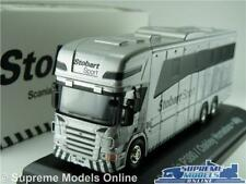 EDDIE STOBART SCANIA P380 MODEL LORRY TRUCK HORSEBOX 1:76 SIZE ATLAS OXFORD ALLY