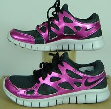 """New Womens 10 NIKE """"Free Run 2 PRM EXT"""" Black Rave Pink Running Shoes $110"""