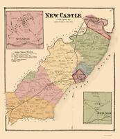New Castle County Delaware - Beers 1868 - 23.00 x 26.66