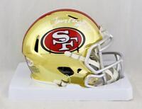 Jerry Rice Signed San Francisco 49ers Chrome Mini Helmet- Beckett Auth *White