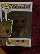 Funko Pop! Marvel Comics Guardians of The Galaxy Groot #49 Nib Collectible