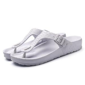 Men's Flip Flops Buckle Summer Shoes Outdoor Beach Slip On Slippers Flat Shoes