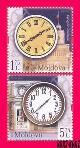 MOLDOVA 2018 Architecture Tower Clocks 2v Mi1063-1064 Sc999-1000 MNH