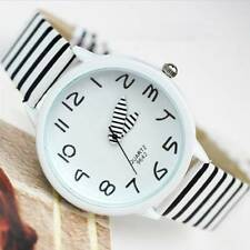Nice Stunning Women's Zebra Stripes Faux Leather Strap Quartz Analog Wrist Watch