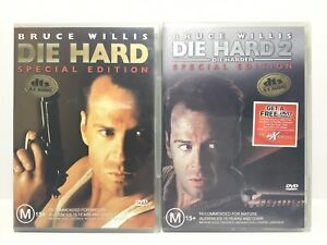 Die Hard 1 & 2 SPECIAL EDITION DVD, Region 4 - Free Tracked Post