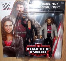 MICK FOLEY STEPHANIE McMAHON WWE Mattel Battle Pack Series 49 Figure NEW IN HAND