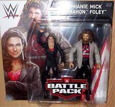 MICK FOLEY STEPHANIE McMAHON WWE Mattel Battle Pack Series 49 Figure NEW DMG PKG