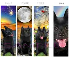 3 SET-SCHIPPERKE BOOKMARK Schipperkes Black Dog Art Card Belgian Breed Spitz Pup