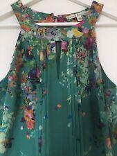 UTTAM BOUTQUE Maxi Dress 10 Emerald Green Multi Floral Summer Holiday Occassion