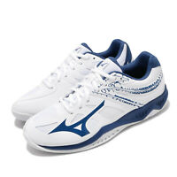Mizuno Thunder Blade 2 White Blue Men Volleyball Shoes Sneakers V1GA1970-21