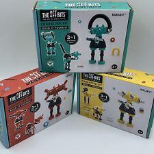 The Off bits Construction Kit Character 3 Artbit Infobit Bababit New Lot Bundle