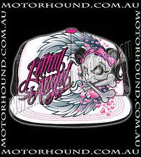 BN PINK BLACK LETHAL ANGEL WINGS SKULL DEMONIA GOTHIC EMO PUNK ROCKABILLY HAT