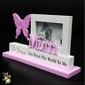 Mum Nana Sis Pink White Heart Pastel Swirl Cutout Photo Frame Mother's Day Gift