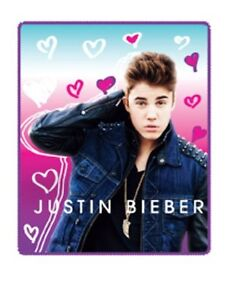 "Justin Bieber   Heartbreak Plush throw blanket 50"" x 60"""