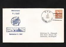 WWII VJ Day 3rd Anniv 1947 Patriotic Navy USS Marias Oiler 8 Battle *s Prexie X