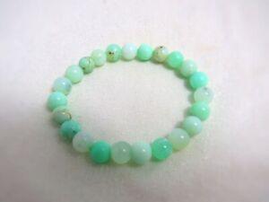 Chrysopras Armband - Perlen-Armband 8 mm