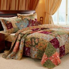 King 100% Cotton Floral Paisley Quilt Set with 2 Shams and 2 Pillows