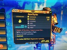 Borderlands 3 Special Grenade - Recurring Hex Lvl 50 - XBOX ONE ONLY