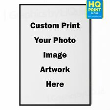 Your photo Here Custom Image Artwork Print Personalised Designs Poster