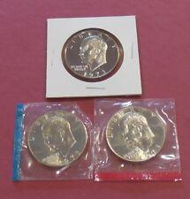 1973 P, D & S * EISENHOWER IKE Dollars * UNC +  PROOF * CLAD