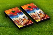 5 O'Clock Somewhere Cornhole Board Wraps Laminated Sticker Set Skin Decal