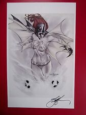 ERIC BASALDUA EBAS ART PRINT (NM) SIGNED BATGIRL BATMAN 11x17 HTF! Grimm Fairy