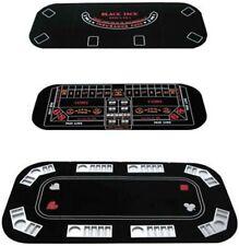 Texas 3-in-1 Folding Black Felt Folding Poker, Craps or Roulette Table Top