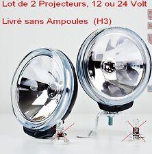 2 Phares Projecteur Lampe Longue Portée,Comet FF 500 HELLA,12 /24 V,Sans Ampoule