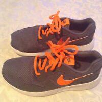 Size 4 Nike shoes Kaishi running gray orange sports athletic boys