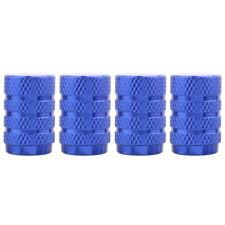 Round Tire Valve Stem Caps Chrome Blue for Car Wheel Dust Caps 4pcs