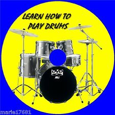 LEARN HOW TO PLAY DRUMS OVER 2Hrs BEGINNERS LESSONS STEP BY STEP GUIDE NEW DVD