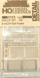 Detail Associates #2723 Grille Set (Stainless SteelEtched) GE 9-44CW Rail Power